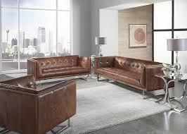Cognac Leather Sofa by Cognac Leather Vintage Chair