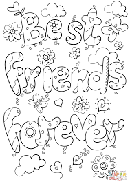 best friends forever coloring page free printable coloring pages