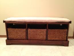 Shoe Storage With Seat Or Bench - interior image of hallway bench with storagecoaster entryway