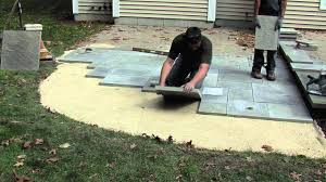 How To Build A Patio With Pavers by How To Install A Rivenstone Patio Youtube