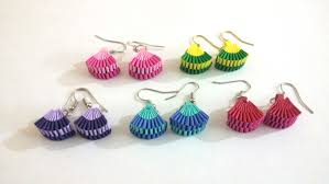 paper ear rings 5 how to make paper weaving fan shape earrings