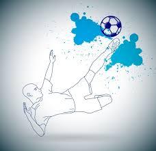 football background grunge sketch kicking player decoration free
