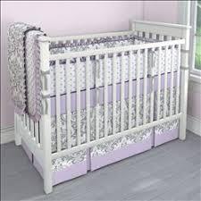 Lilac Damask Crib Bedding Lilac And Gray Traditions Damask Nursery Collection Damasks