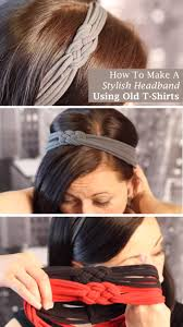 hairstyles with haedband accessories video how to make a stylish headband using old t shirts stylish craft