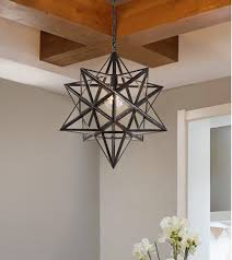 Moravian Star Ceiling Mount by Siminda Glass Moravian Star Ceiling Chandelier Lamp Flush Mount