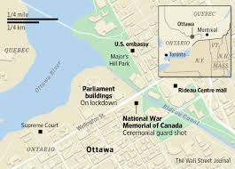 Ottawa Canada Map by Map Of The Shooting In Ottawa Wsj Com
