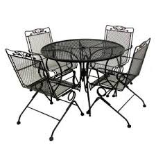 Iron Patio Furniture by Gallery Of Pleasant Mesh Wrought Iron Patio Furniture About