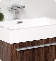 Bathroom Vanity Medicine Cabinet by 22 5 U201d Fresca Alto Fvn8058gw Walnut Modern Bathroom Vanity W