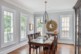 Dining Room Glass Cabinets by Sherwin Williams Shoji White Dining Room Traditional With Natural