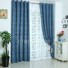 Embroidered Linen Curtains Embroidered Floral Pattern Country Style Quality Linen Curtains Panels
