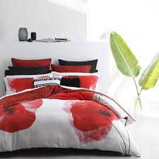logan and mason opium red quilt cover set opium red quilt covers