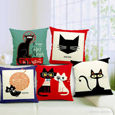 Outdoor Pillows Sale by Cat Pillow Cover Minimalist Scandinavian Cute Cartoon Cat Cushion