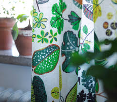 ikea curtains leaf pattern decorate the house with beautiful