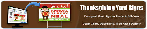 order custom thanksgiving yard signs today banners