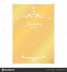 Card For Invitations Elegant Golden Card For Invitations With Leafy Elements Of