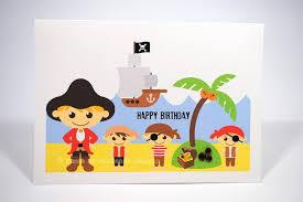 happy birthday card boy pirates on land hbc074 mum and me