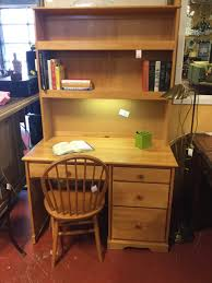 Pine Desk With Hutch Desk Lighted Hutch Chair Pine As Found Consignment Furniture