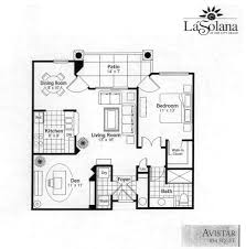 sun city grand la solana avistar condo floor plan model home house