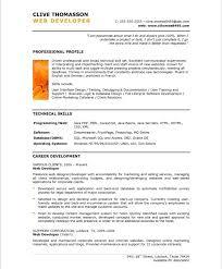 web resume senior web developer resume sles exles