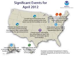 us weather map for april national climate report april 2012 state of the climate