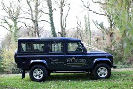navy land rover country wedding cars cars