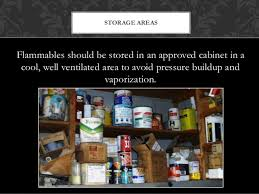 what should be stored in a flammable storage cabinet are you working in flammable work environment