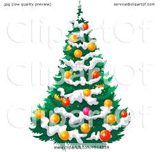 christmas tree with snow clipart of a christmas tree with snow royalty free vector
