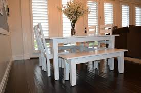 white table with bench white kitchen table sets silo christmas tree farm