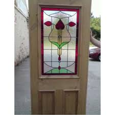 glass outside door edwardian original stained glass exterior door interior door art