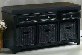 entryway bench with baskets and cushions black entryway storage bench entryway benches black metal entryway