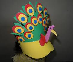 paper crafts foam peacock cap