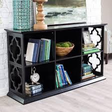 Console Bookshelves by Belham Living Hampton Console Table 2 Shelf Bookcase White Oak