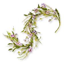 artificial purple flower garland green 5 national tree