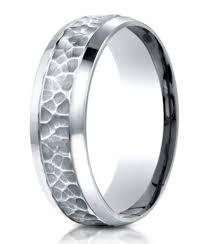 mens wedding band designers designer platinum mens wedding band hammered finish