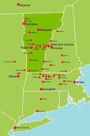 Boston And New York Map by City To City Go Vermont