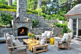 Stone Fireplace Kits Outdoor - paver patio with stone fireplace kits build stacked backyard wall