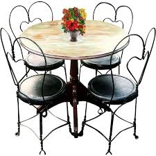 Vintage Bistro Chairs Catchy Vintage Bistro Table And Chairs With Attractive Bistro Cafe