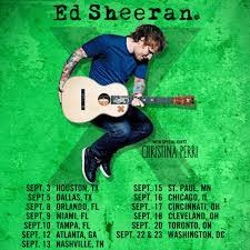 ed sheeran tour 2017 x tour ed sheeran wikipedia