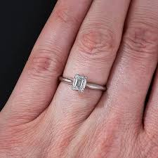 47 carat emerald cut solitaire ring - Emerald Cut Solitaire Engagement Rings