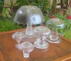 outdoor mushroom lights a variety of glass mushrooms ranging from large to super small