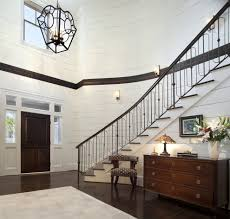stained glass lamp ideas entry contemporary with bronze stair