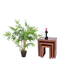 green 3ft bamboo tree artificial plant with pot 95 cm homescapes