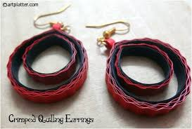 quilling earrings images crimped quilling earrings tutorial platter