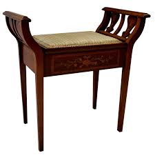 mahogany piano stool with pear inlay for sale at 1stdibs