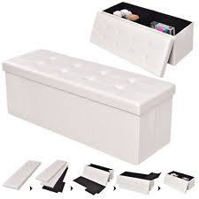 white ottomans footstools and poufs ebay