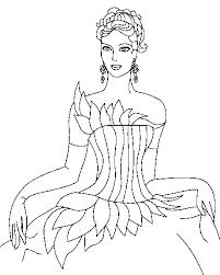 princess 2 coloring page