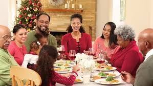 family gathering for a meal stock footage dissolve