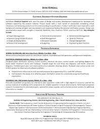 sample resume for electrical engineer maintenance pdf best