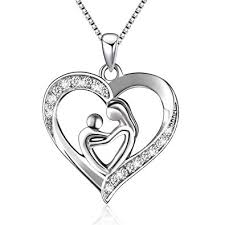 necklace silver pendant images Sterling silver mother and child love heart pendant jpg