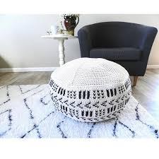 Crochet Ottoman Crochet Pouf Pattern Crochet Floor Pouf Crochet Ottoman